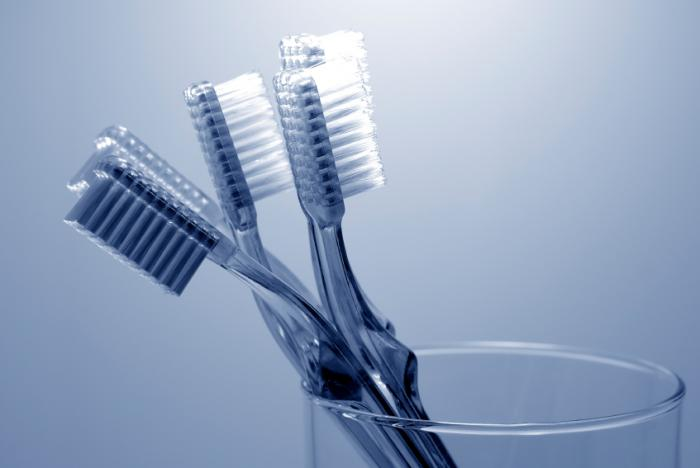 Toothbrushes. Fecal matter found on more than 60  of toothbrushes in shared