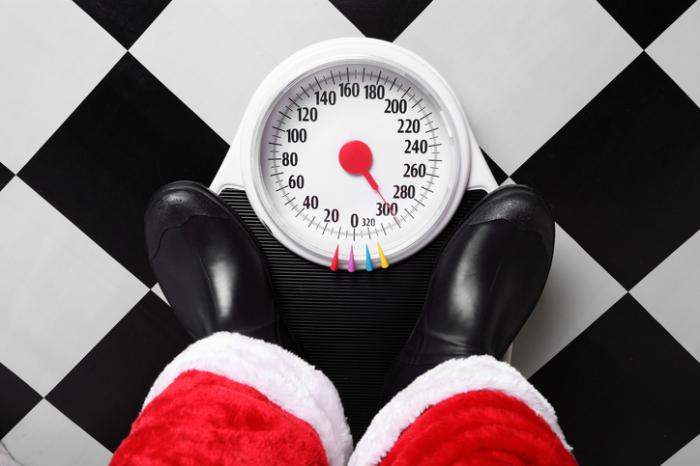 Christmas weight gain can persist for months