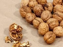 a heart made from walnuts - NOTEN KUNNEN BESCHERMEN TEGEN HARTZIEKTEN