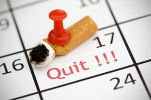 choose a smoking quit date and stick to it