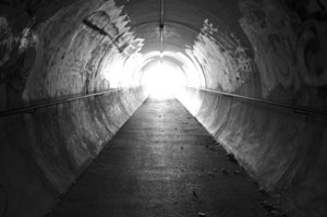 Light from end of tunnel