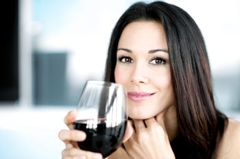 Lady drinking wine