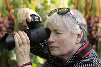 Lady learning photography