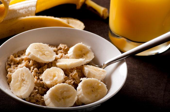 Bananas and oatmeal