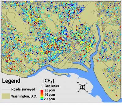 Washington DC Gasleak Dotmap