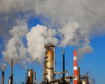 Smoke from industrial chimneys