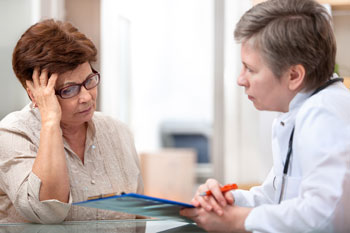 Discussion between healthcare professional and patient