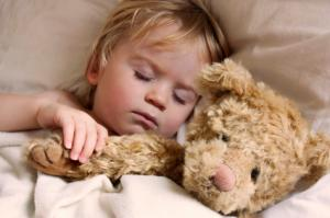 A young child sleeping