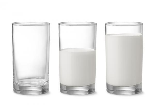 Glasses of milk