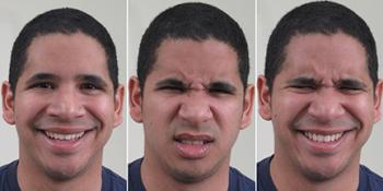 montage of different facial expressions