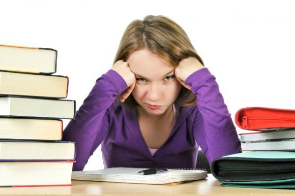 Procrastinating girl
