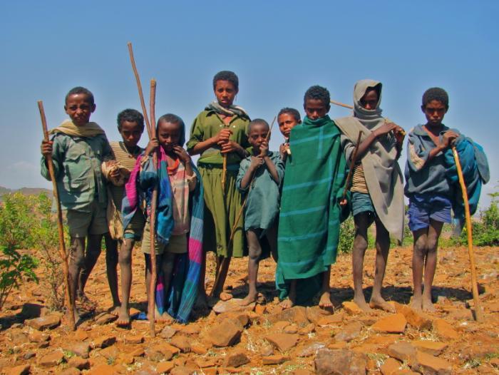 rural Ethiopian children