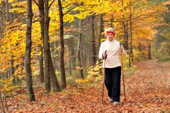 Older lady walking