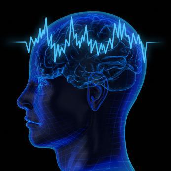 illustration depicting brain activity