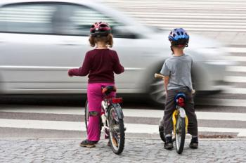 Children on bicycles