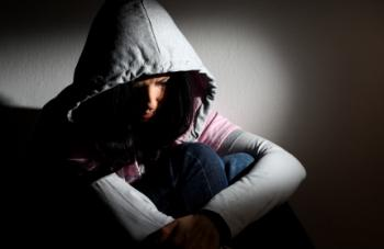 depressed looking teenage girl