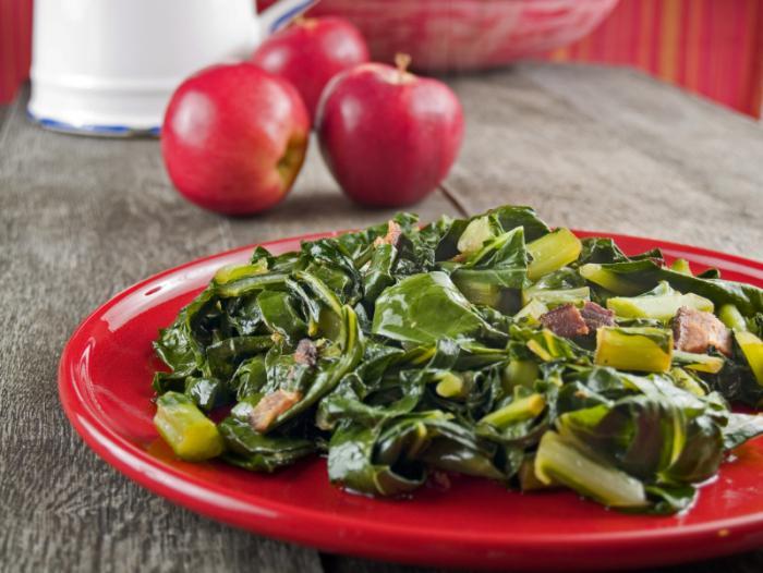 Collard greens with bacon
