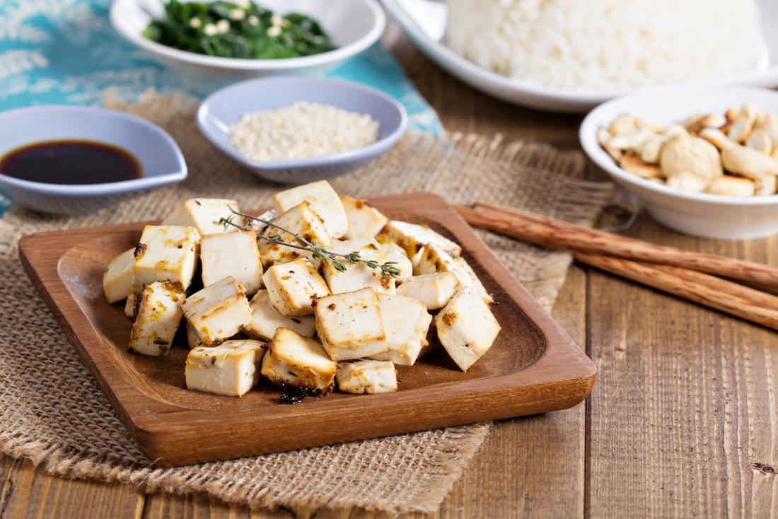 Tofu, made from soybean curds, is naturally gluten-free and low ...