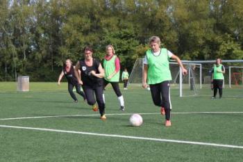 Mature Women Playing Football (1 of 2)