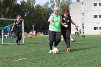 Mature Women Playing Football (2 of 2)