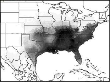 The range of Ae. albopictus in the U.S. in 2010.