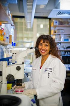 [Rani George, MD, PhD, of Dana-Farber/Boston Children's Cancer and Blood Disorders Center, in her lab]