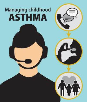 [managing childhood asthma]