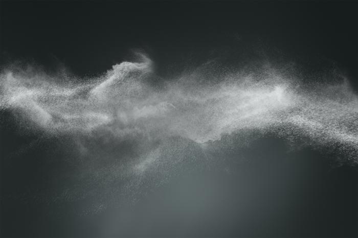 Powder in air