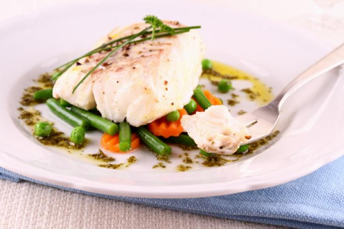 haddock on a dinner plate