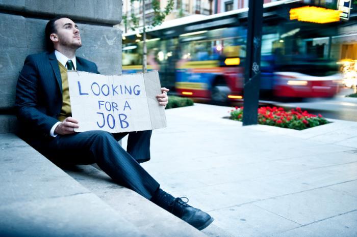 An unemployed man