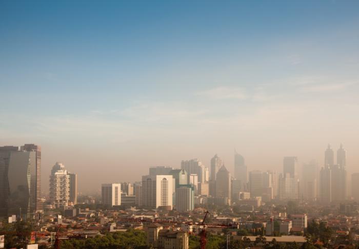 Smog over a city