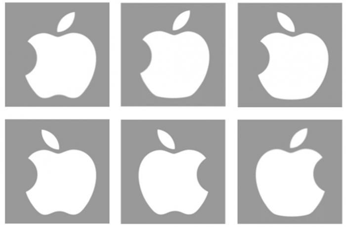 six false apple logos