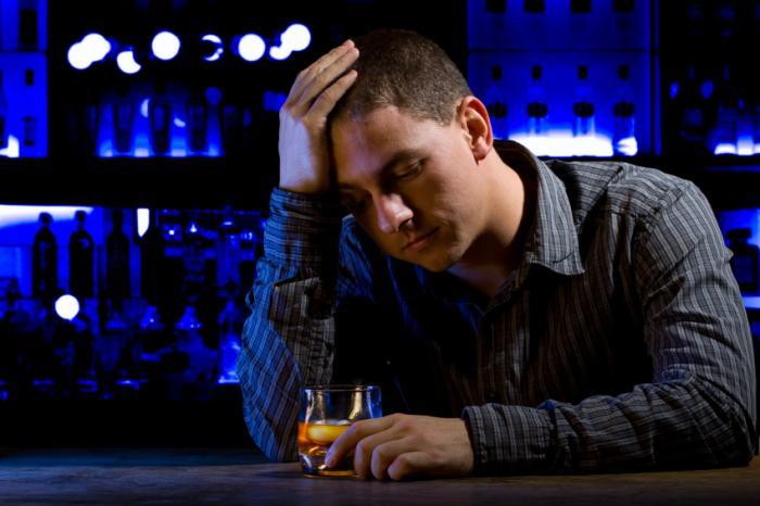 alcohol dependent man