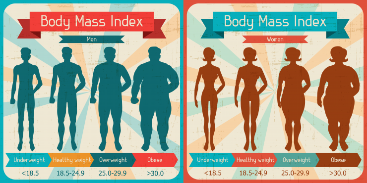BMI for men and women
