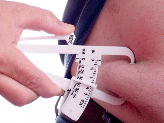 calipers to measure body fat